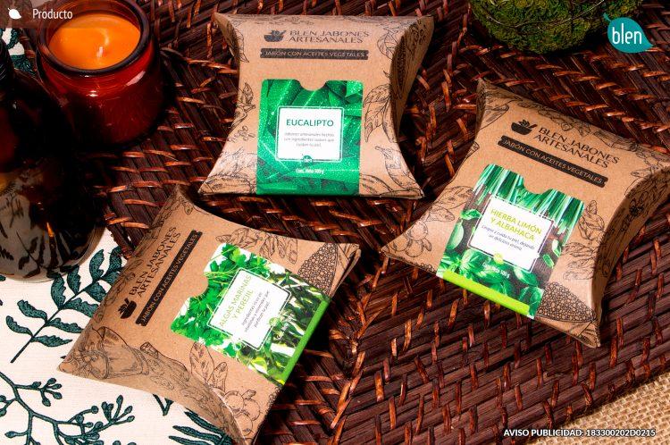 jabones, artesanales, eucalipto, hierba limón, albahaca, algas, perejil