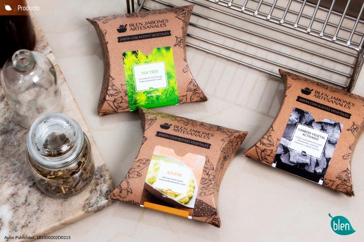 jabones, artesanales, tea tree, azufre, carbón vegetal activado